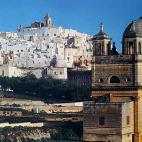 "Ostuni. Magnificent view  of the world famous ""White Town""."
